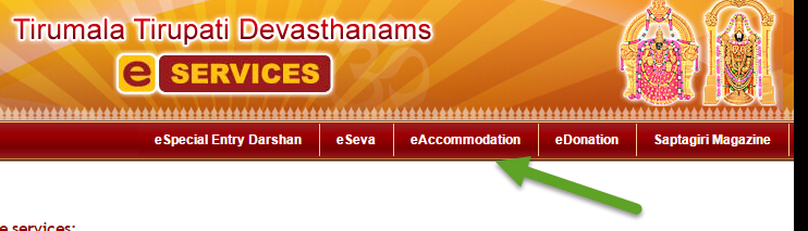 Book Rooms Online In Tirumala
