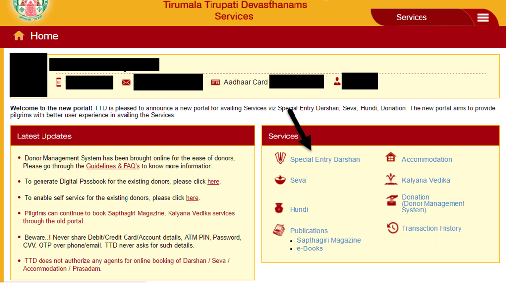 Summary -> Tirumala Room Online Booking Check Ttd Accommodation
