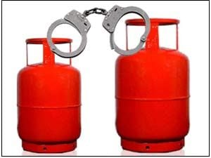 catch lpg gas cylinder thief