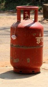 LPG gas cylinder stolen