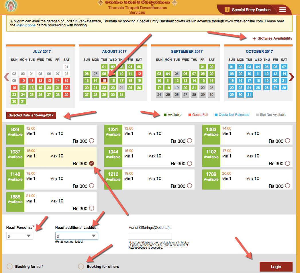 TTD Darshan Tickets Online Availability - 300/ 50 Rs - Check ?