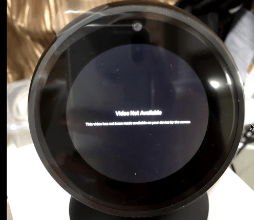 Alexa Video Not Available Issue