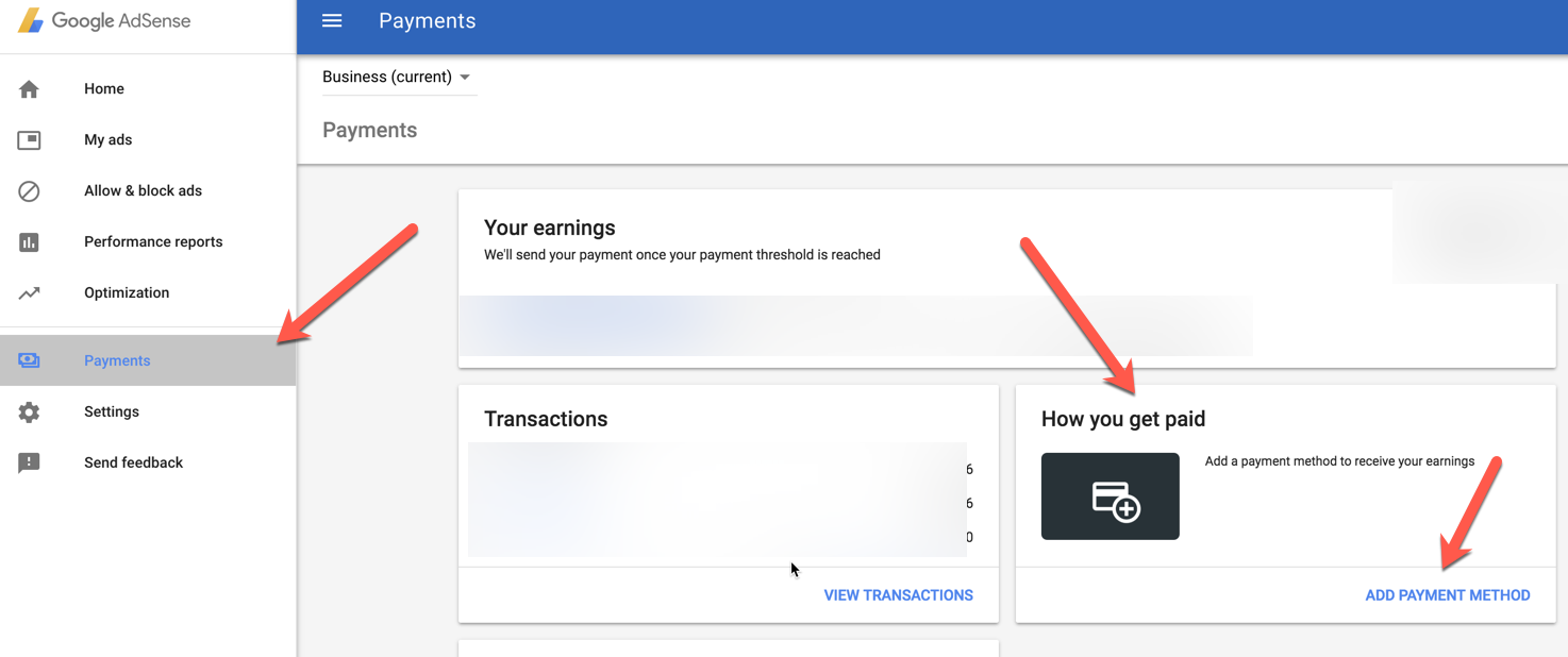 Adsesne Setup Payment Option - India - HDFC Bank ICICI - EFT Online Transfer