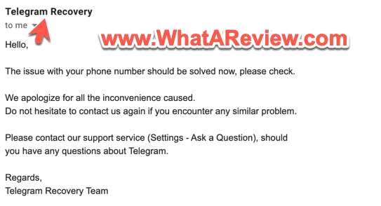Telegram Recovery Phone Number Banned